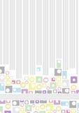 Runder Retro- Hintergrund Lizenzfreies Stockbild