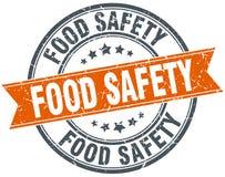 Runder Schmutzstempel der Lebensmittelsicherheit Stockfotografie