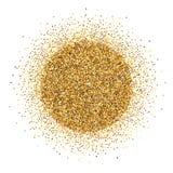 Runder Stapel des Goldlamettas auf weißem Hintergrund Lizenzfreie Stockfotografie