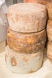 Runder Staplungskäse für Verkauf im Markt lizenzfreies stockbild