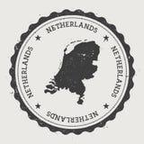 Runder Stempel des niederländischen Hippies mit Stockbilder