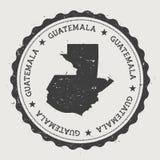 Runder Stempel Guatemala-Hippies mit Land Stockfotos