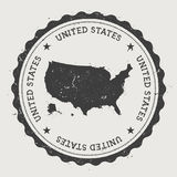 Runder Stempel Hippies Vereinigter Staaten mit Stockbild