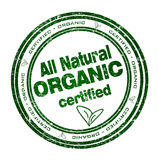 Runder Stempel mit Text: Ganz natürliches organisches Lizenzfreies Stockbild