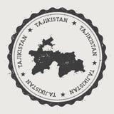 Runder Stempel Tadschikistan-Hippies mit Lizenzfreie Stockbilder