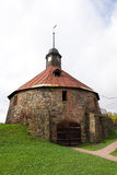 Runder Turm (Pugachev) Korela Priosersk Russland Lizenzfreie Stockfotografie