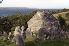 01.09.2013 - Runder Turm und Kathedrale Ardmore. Stockfotos