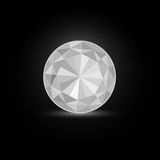 Runder weißer Diamant-Stein Stockbilder