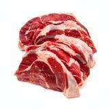 Runderschenkelvlees op een witte studioachtergrond die wordt geïsoleerd, Royalty-vrije Stock Afbeeldingen
