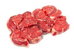 Runderschenkelvlees op een witte studioachtergrond die wordt geïsoleerd, Royalty-vrije Stock Afbeelding