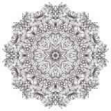 Rundes ausführliches Muster Stockfotografie