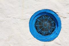 Rundes blaues Fenster Lizenzfreie Stockfotografie