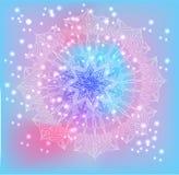 Rundes Blumenmuster der empfindlichen Spitzes des Vektors vektor abbildung