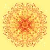 Rundes Blumenmuster der empfindlichen Spitzes des Vektors lizenzfreie abbildung
