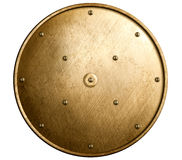 Rundes Bronzeschild lokalisiert Lizenzfreie Stockbilder