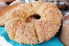 Rundes Brot Stockfotografie