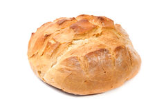 Rundes Brot des weißen Weizens Stockbild