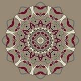 Rundes dekoratives mit Blumensymbol Dekorative Elemente der Weinlese entziehen Sie Hintergrund lizenzfreie abbildung