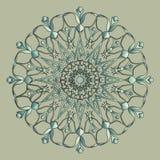 Rundes dekoratives mit Blumensymbol Dekorative Elemente der Weinlese entziehen Sie Hintergrund vektor abbildung