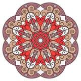 Rundes ethnisches Muster Stockfoto