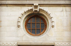 rundes Fenster der Weinlese in der klassischen Art Stockbilder