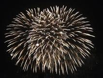 Rundes Feuerwerk Stockfoto