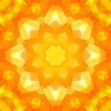 Rundes gelbes Dreieckfrühlingsmuster Stockbild