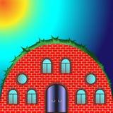 Rundes Haus mit Fenstern Lizenzfreie Stockfotografie