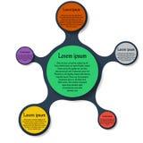 Rundes infographics Diagramm Metaball-Schablone Stockbilder