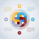 Rundes infographics Konzept Lizenzfreie Stockfotos