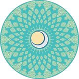 Rundes islamisches Motiv mit sichelförmigen Verzierungen stock abbildung