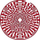 Rundes Labyrinth Stockfoto