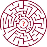 Rundes Labyrinth Lizenzfreie Stockbilder