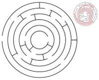 Rundes Labyrinth Lizenzfreie Abbildung