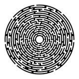 Rundes Labyrinth izolated auf Weiß Stockfotos