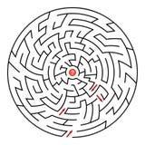 Rundes Labyrinth Lizenzfreie Stockfotografie