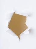 Rundes Loch im Papier Stockbild
