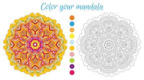 Rundes Mandaladesign für erwachsenes Malbuch Lizenzfreies Stockfoto