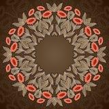 Rundes Muster der abstrakten im altem Stil Pastellsonnenblumen Stockbilder