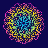 Rundes Muster der aufwändigen Mandala Lizenzfreies Stockbild