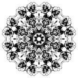 Rundes Muster der dekorativen Spitzes der Weinlese floral lizenzfreie abbildung