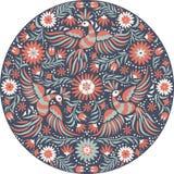 Rundes Muster der mexikanischen Stickerei des Vektors stock abbildung