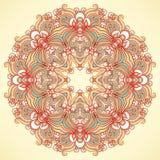 Rundes natürliches orange Muster Stockfotografie