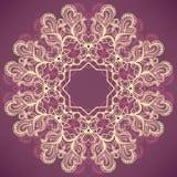 Rundes natürliches purpurrotes Muster Stockbilder