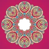 Rundes rosa Muster Stockbild
