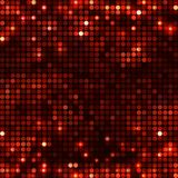 Rundes schwarzes rotes Mosaik beschmutzt horizontales Lizenzfreies Stockbild