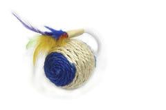 Rundes Spielzeug für Tiere mit Federn Stockfotos