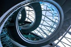 Rundes Treppenhaus 2 Stockfoto