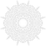 Rundes Verzierung-Muster Kreisförmiges verwickeltes Muster Spitzekreis-Designschablone Abstrakte geometrische Monolinie Hintergru Stockbilder