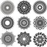 Rundes Verzierungs-Muster Stockbild